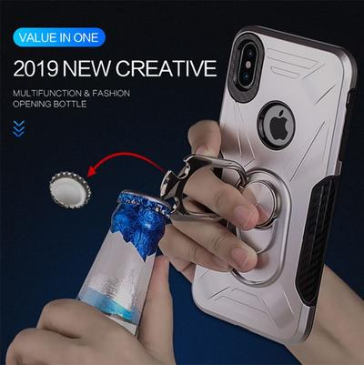 2019 Finger ring holder hard magnetic Silicone phone case for phone XS case with ring phone cases