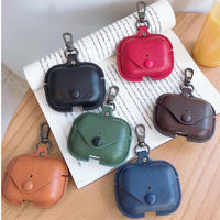 Hot Sale for Airpods Pro Case Leather 3 Luxury PU Bag for Apple for Airpod Pro Anti Lost Protect