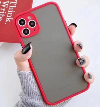 Popular simple style TPU+PC phone cover skin feel phone case For Iphone 12