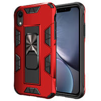 2020 New Invisible Magnetic Hybridc Car Kickstand Shockproof PC+TPU Phone Case For iphone XR  SE2 12 pro max